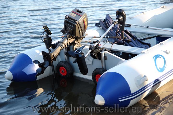 колеса для транца для лодки пвх